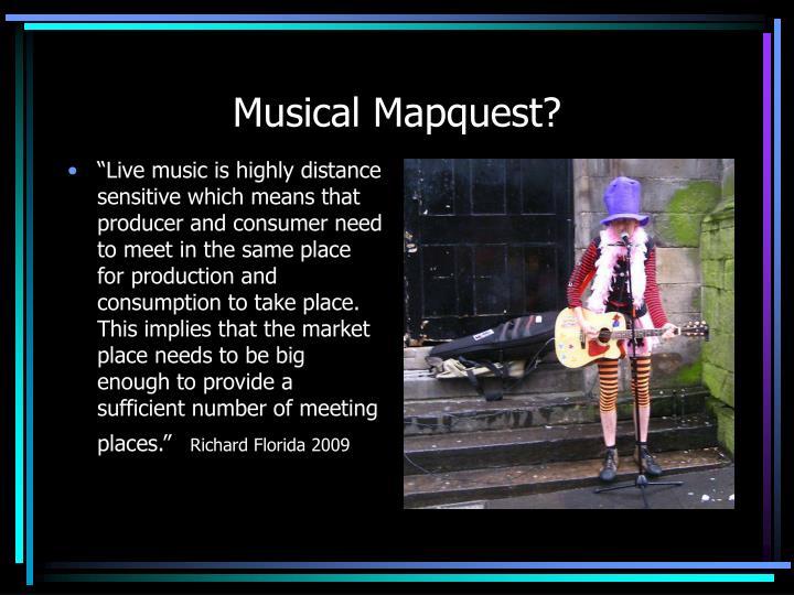 Musical Mapquest?