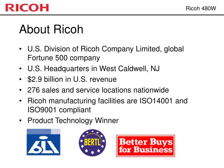 About Ricoh
