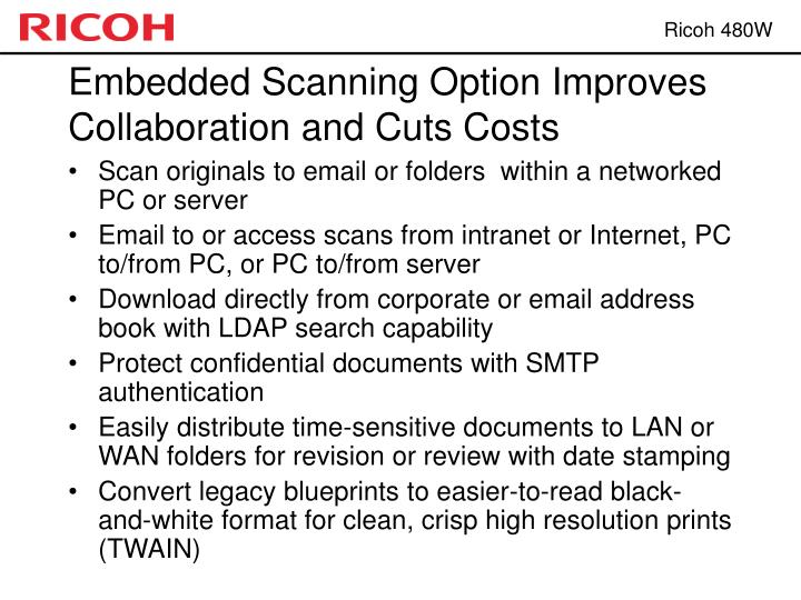 Embedded Scanning Option Improves Collaboration and Cuts Costs