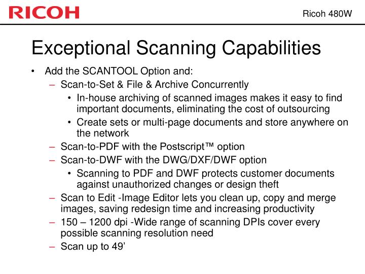 Exceptional Scanning Capabilities