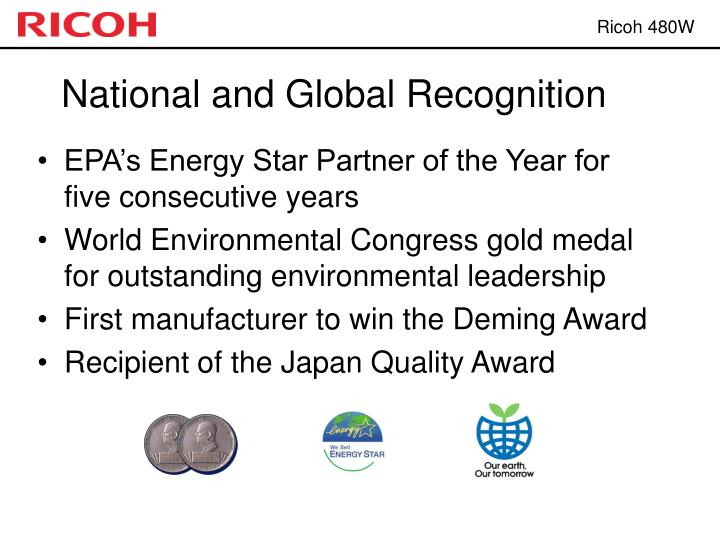 National and Global Recognition