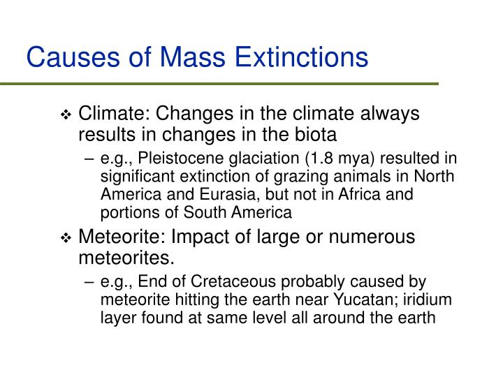 Causes of Mass Extinctions