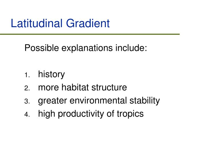 Latitudinal Gradient