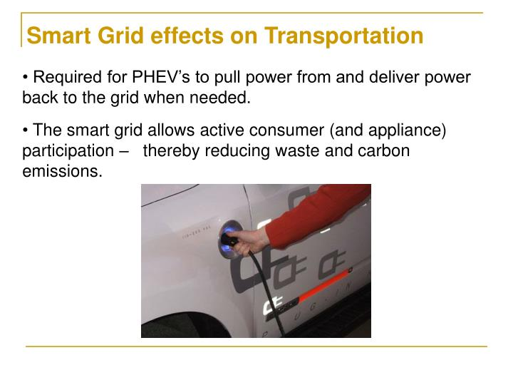Smart Grid effects on Transportation