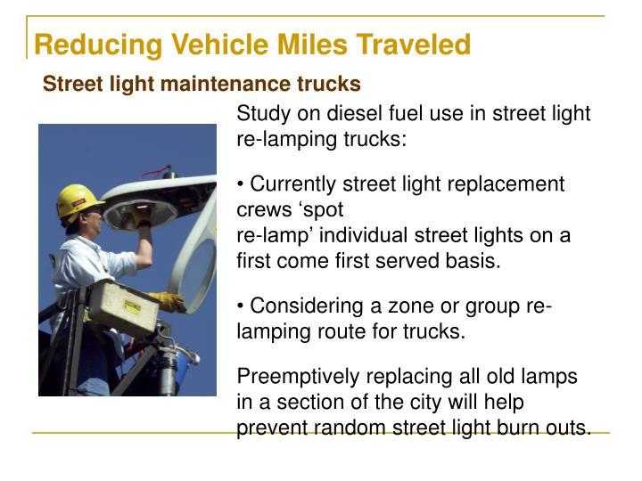 Reducing Vehicle Miles Traveled
