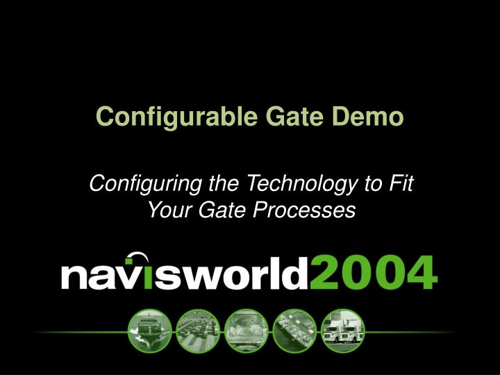 Configurable Gate Demo