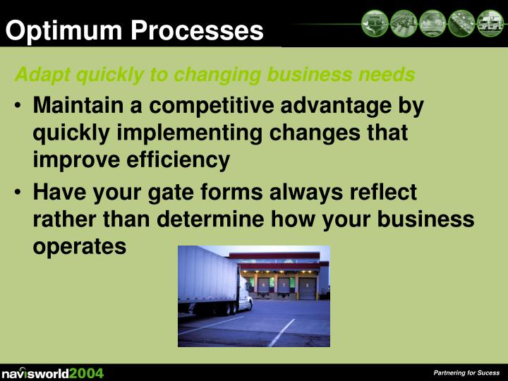 Optimum Processes