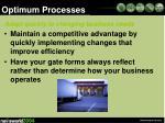 optimum processes