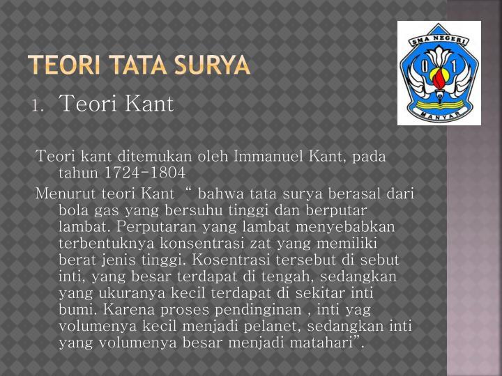 TEORI TATA SURYA