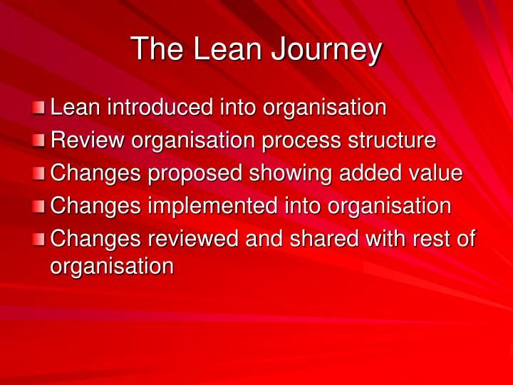 The Lean Journey