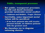 public transparent processes1