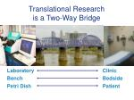 translational research is a two way bridge