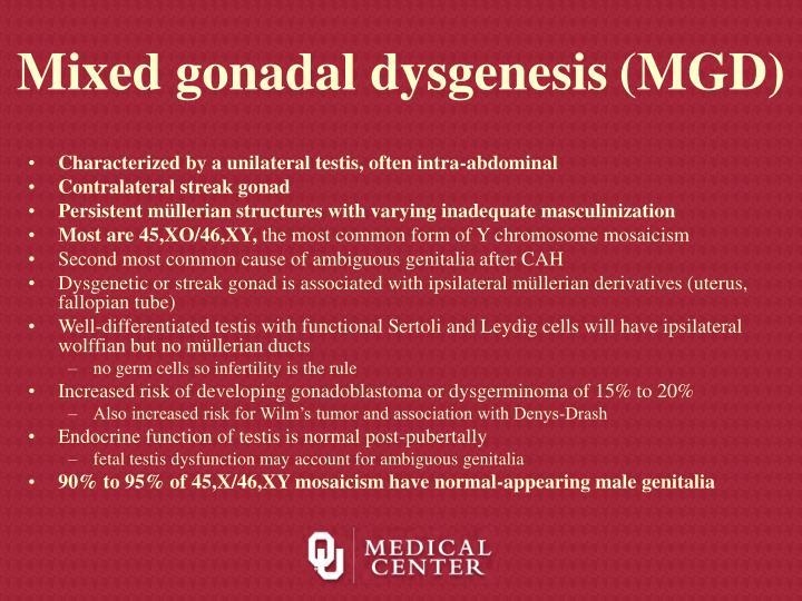 Mixed gonadal dysgenesis