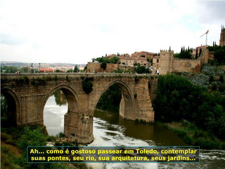 Ah... como  gostoso passear em Toledo, contemplar suas pontes, seu rio, sua arquitetura, seus jardins...