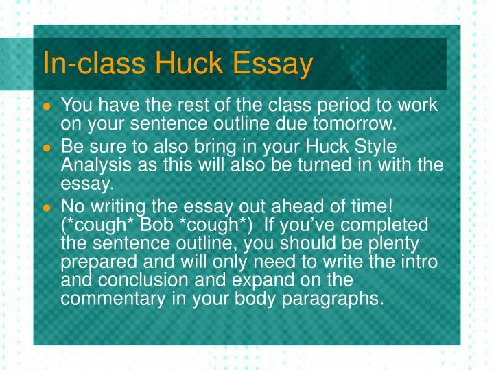 hucks essay Essays and criticism on mark twain's the adventures of huckleberry finn - critical essays.