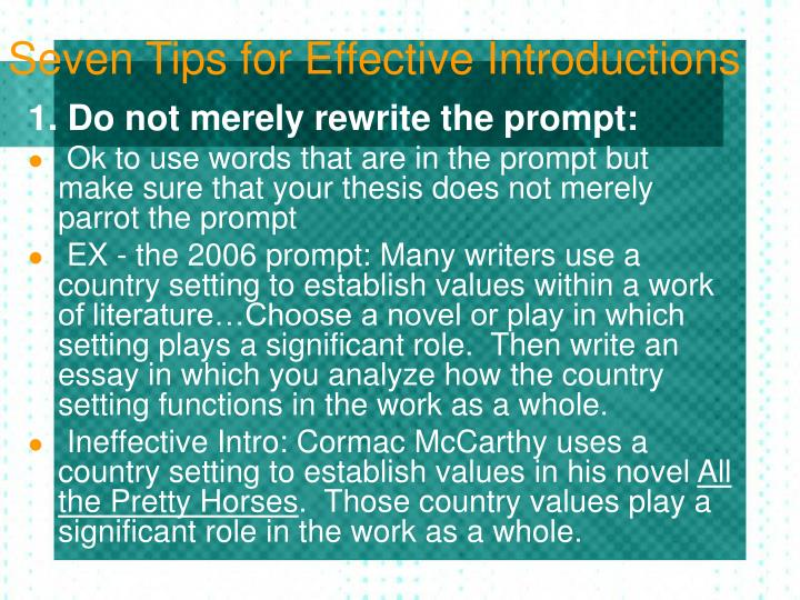 practice writing essay introductions And write a sample introduction students to write effective introductions an effective introduction when writing a compare and contrast essay.