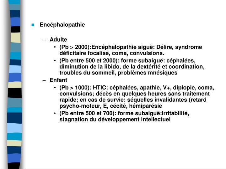 Encphalopathie