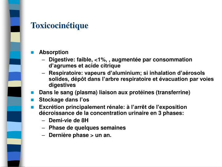Toxicocintique