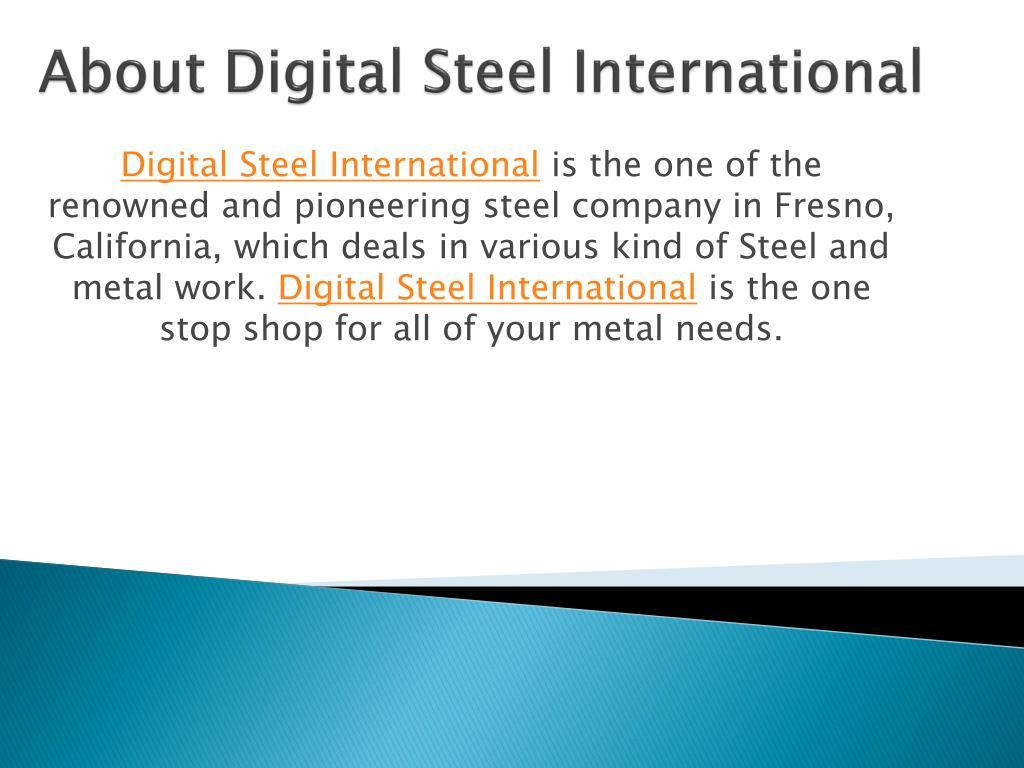 About Digital Steel International