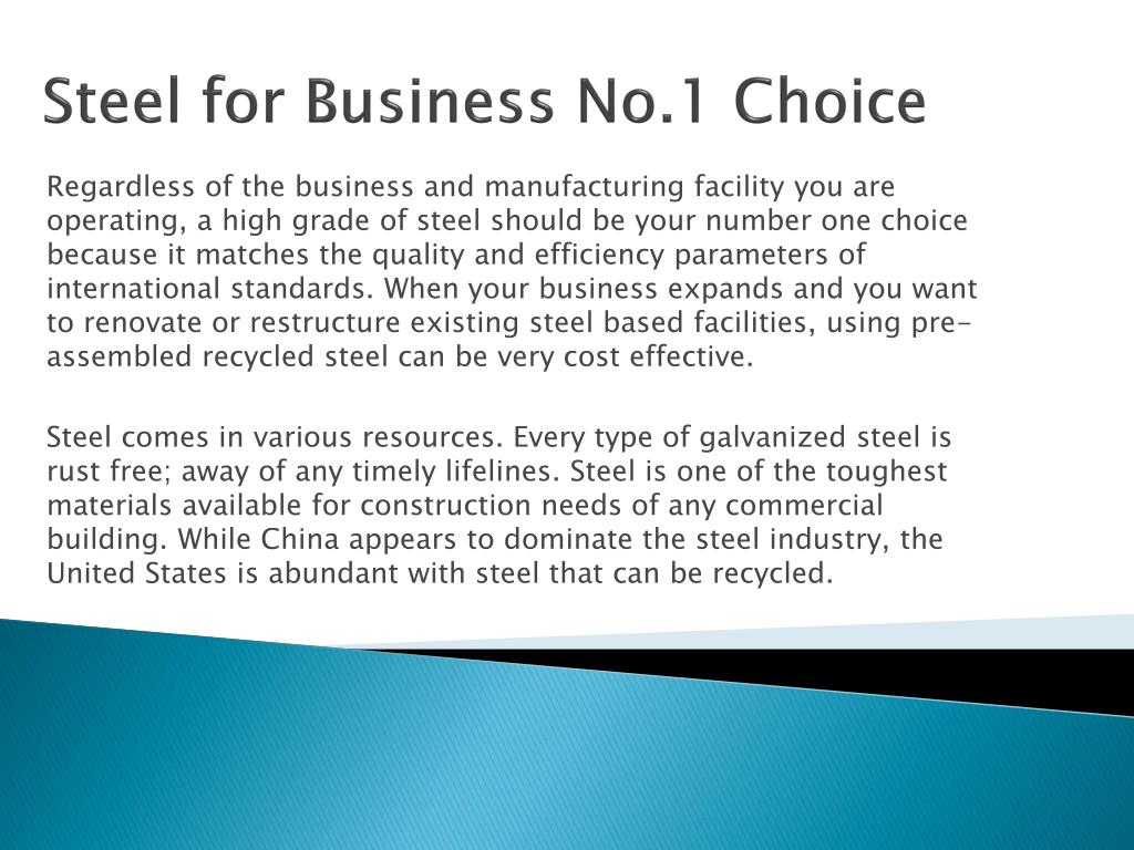 Steel for Business No.1 Choice