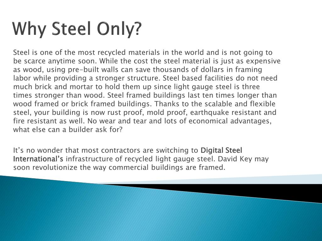 Why Steel Only?