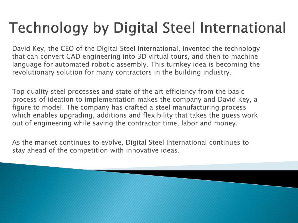 Technology by Digital Steel International