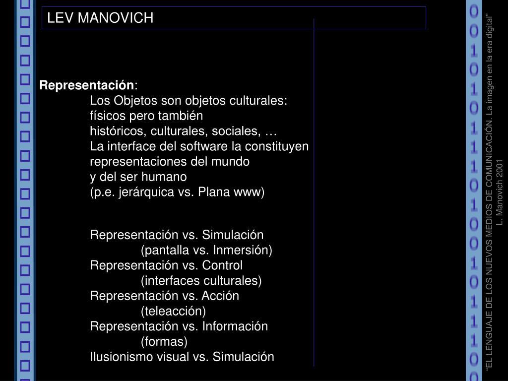 LEV MANOVICH