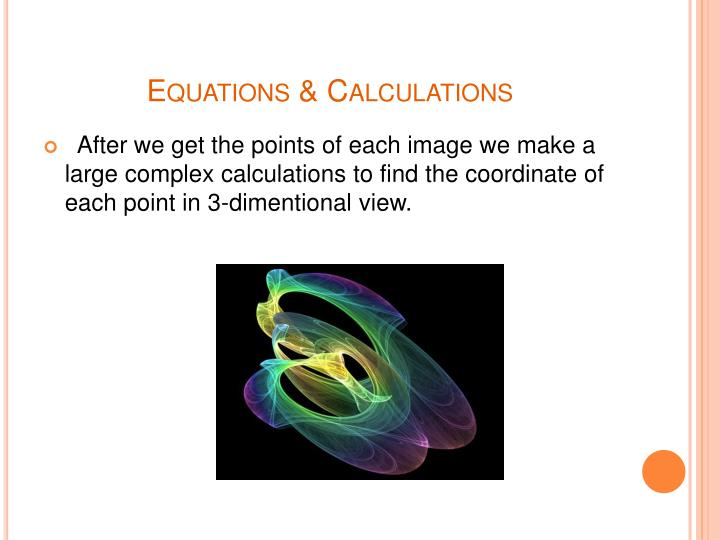 Equations & Calculations