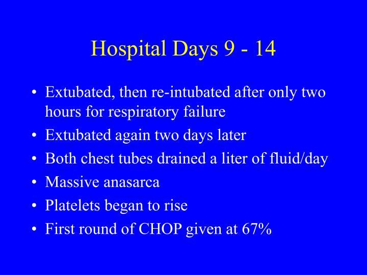 Hospital Days 9 - 14