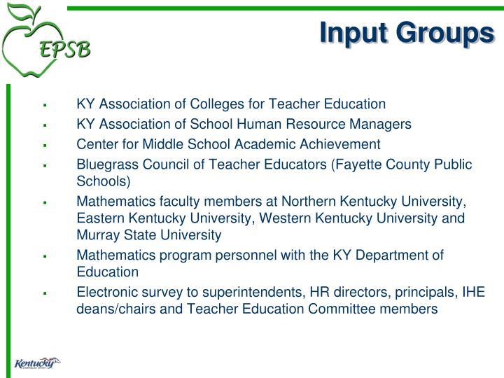 Input Groups