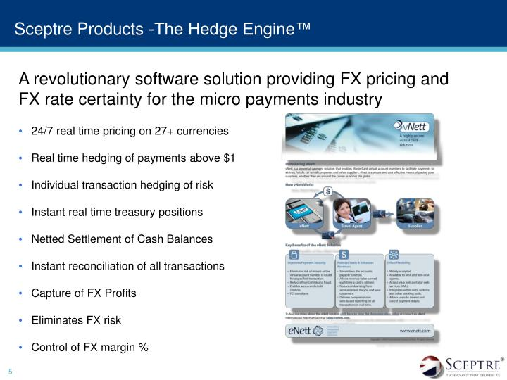 Sceptre Products -The Hedge Engine™