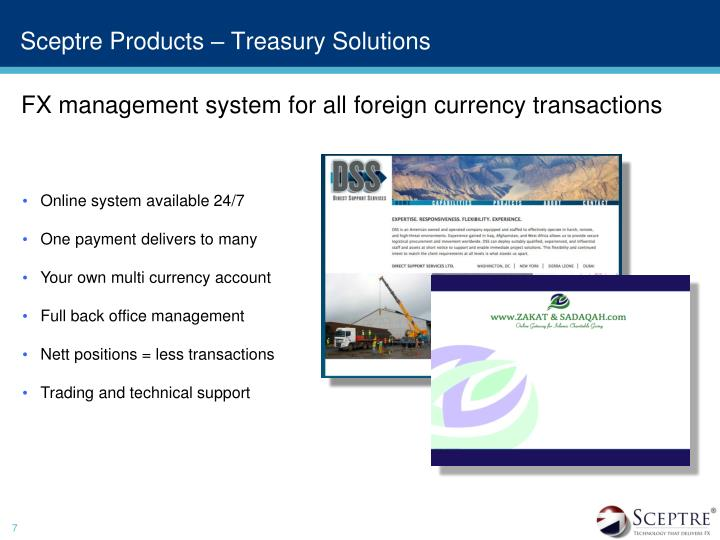 Sceptre Products – Treasury Solutions