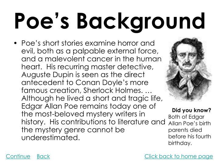 Poe's Background