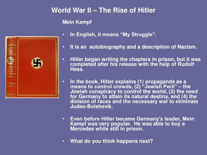 an overview of the rise of nazi party in germany before world war ii What did germany do after world war ii to recover so successfully that it became more  before world war ii germany's  nazi party to rise to power.