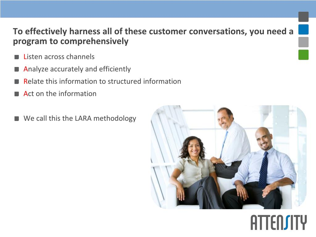 To effectively harness all of these customer conversations, you need a program to comprehensively