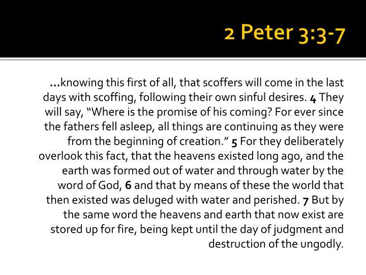 2 Peter 3:3-7