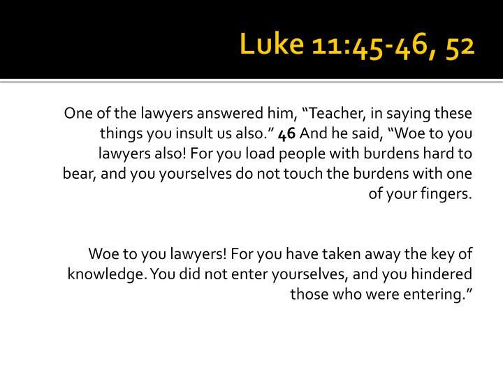 Luke 11:45-46, 52
