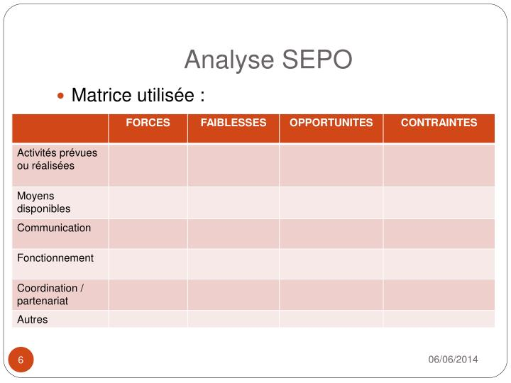 Analyse SEPO