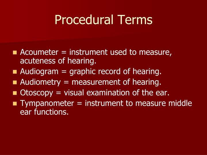 Procedural Terms