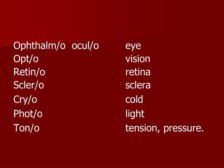 Ophthalm/o