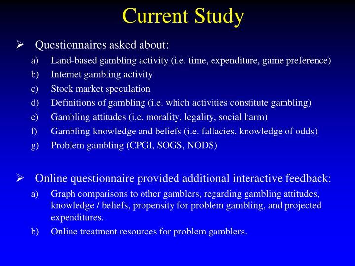 Current Study
