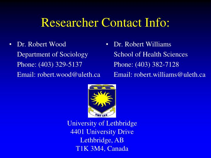 Dr. Robert Wood