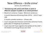 new offence knife crime section 142 laspoa 2012