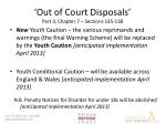 out of court disposals part 3 chapter 7 sections 135 138