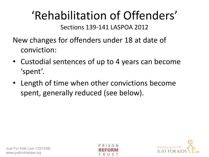 'Rehabilitation of Offenders'