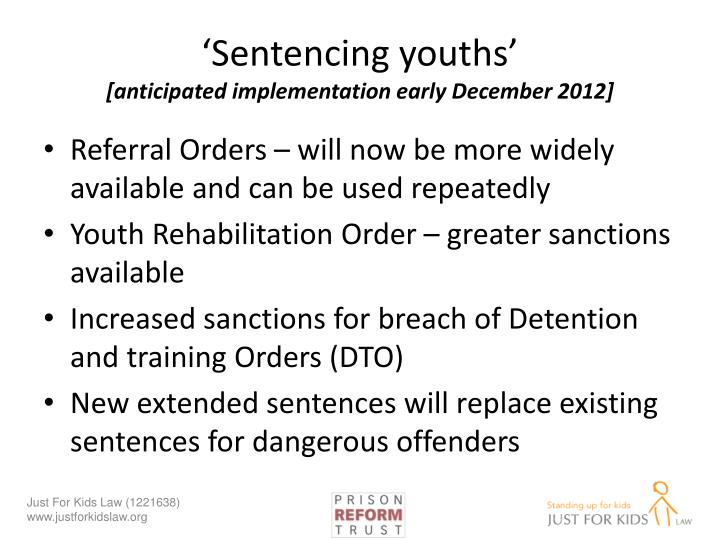 'Sentencing youths'