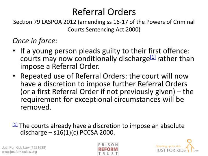 Referral Orders