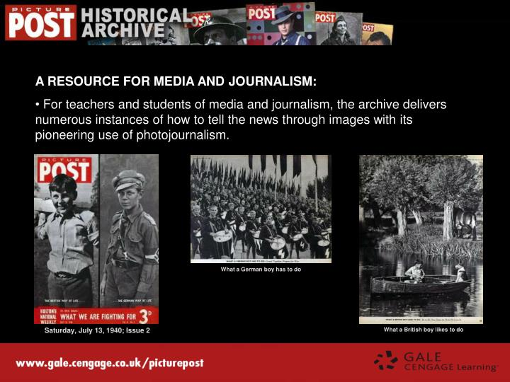 A RESOURCE FOR MEDIA AND JOURNALISM: