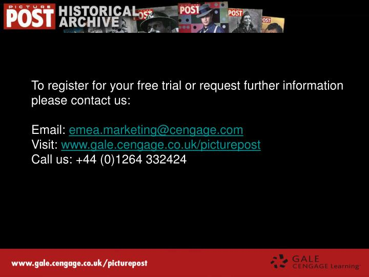 To register for your free trial or request further information please contact us: