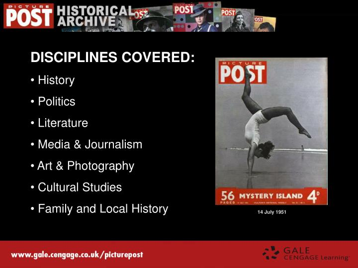DISCIPLINES COVERED: